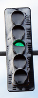 Traffic light in Oswego, Ill.