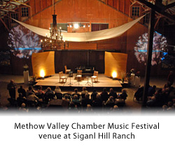 Methow Chamber Music venue at Signal Hill Ranch, 2010