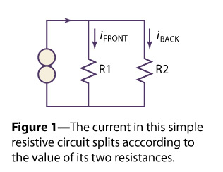 Two resistors in parallel share the source current